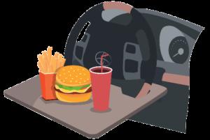 столик для еды в машину
